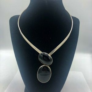 70'S Vintage Made in Mexico Silver Chocker